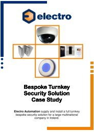 Access Control, Turnstiles and CCTV Case Study - Electro ...