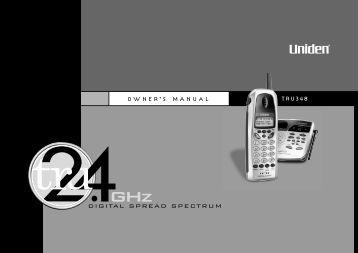 O W N E R'S M A N U A L TRU348 - at Uniden