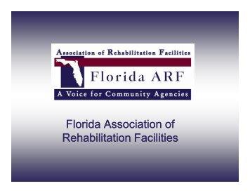 Florida Association of Rehabilitation Facilities - Florida ARF