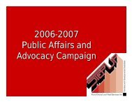 2006-2007 Public Affairs and Advocacy Campaign - Florida ARF