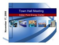 Town Hall Meeting - Indian Point Energy Center