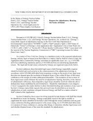 Request for Adjudicatory Hearing On Notice of Denial - Indian Point ...