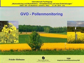 GVO - Pollenmonitoring - Oekologiebuero Hofmann