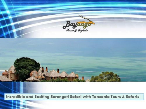 Incredible and Exciting Serengeti Safari with Tanzania Tours & Safaris