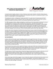 Replacing Oxygen Sensors for Preventive Maintenance - AutoTap