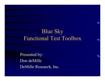 Blue Sky Functional Test Toolbox - Board Test Workshop Home Page