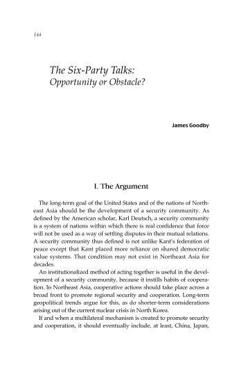 The Six Party Talks - Nautilus Institute