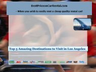Top 5 Amazing Destinations to Visit in Los Angeles