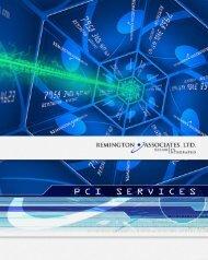 Remington PCI Services Brochure (346KB)