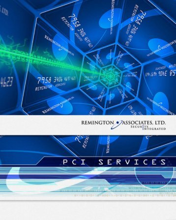 Remington PCI Services Brochure (346KB)