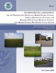 environmental assessment us border patrol, rio grande valley sector