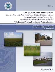 environmental assessment us border patrol, rio grande valley sector