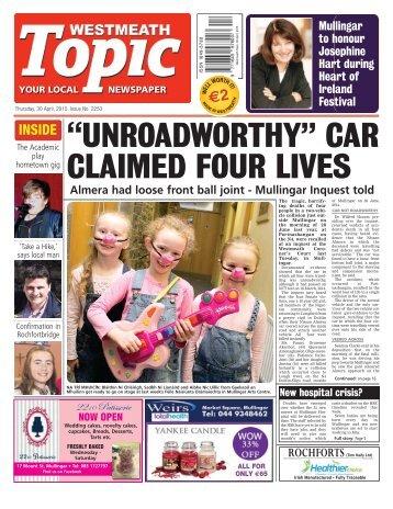 Westmeath Topic- 30 April 2015