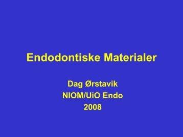Endodontiske Materialer