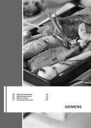 DE Gebrauchsanleitung 03 NL Gebruiksaanwijzing 50 ... - Siemens