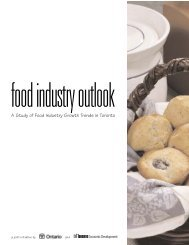 The Food Processing Sector - City of Toronto
