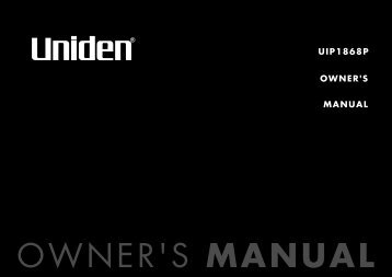 uip1868p owner's manual - Support Information Management System