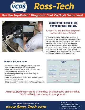 VCDS brochure - Ross-Tech Store