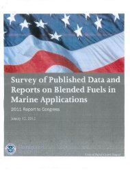 Survey of Published Data & Reports on Blended Fuels in Marine ...