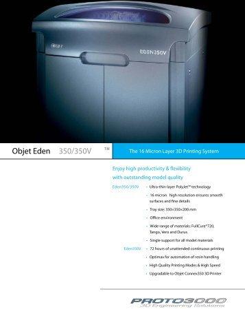 Objet Eden 350/350V - Proto3000