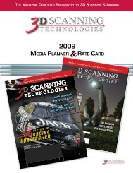 2009 SCANNING - 3D Scanning Technologies