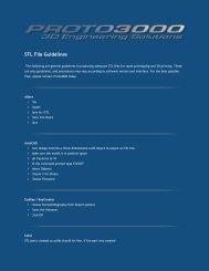 STL File Guidelines - Proto3000
