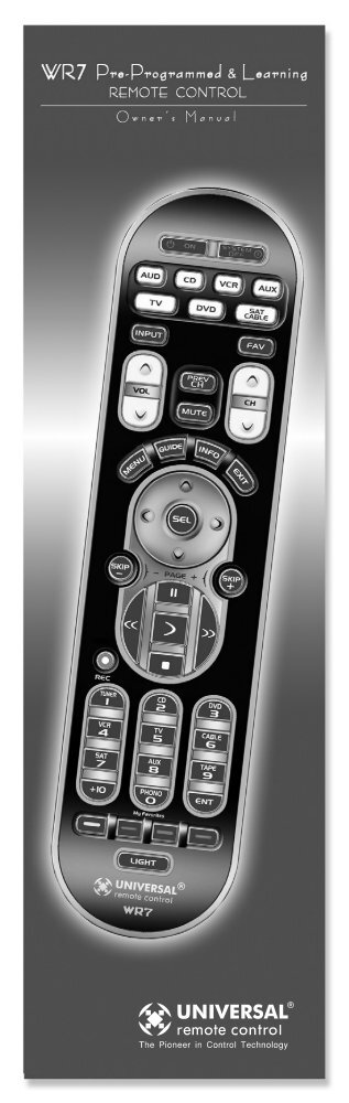 Owner's Manual - Universal Remote Control