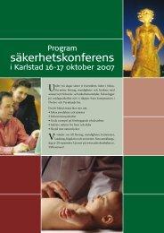 Inbjudan och Program (hela säkerhetskonferensen) - Karlstads ...