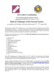 First Call for Contributions
