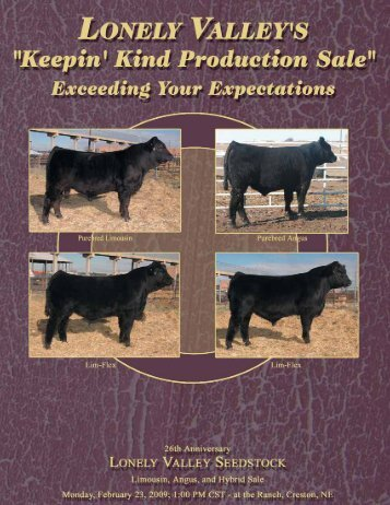 Lonely Valley Bull Sale Catalog 2009:lonely valley bull sale catalog ...