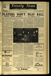 PLAYERS WOR'T PLAY BALL - Trinity News Archive