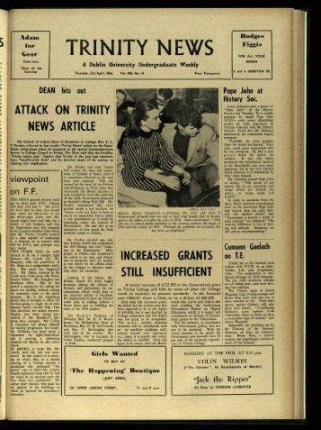 TRIN ITY l'J EWS - Trinity News Archive
