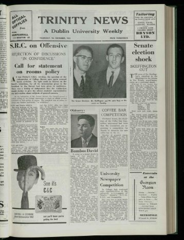 The Senate Elections - Trinity News Archive