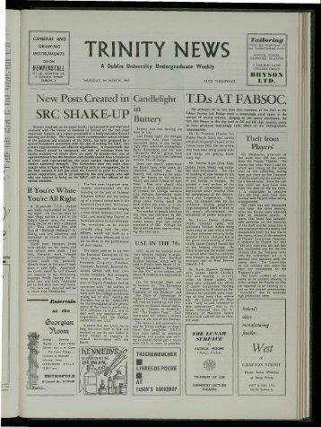 TR! N ITY ]',,I EWS - Trinity News Archive