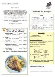 Abensberger Spargel vom Biohof Keil aus Kelheim: