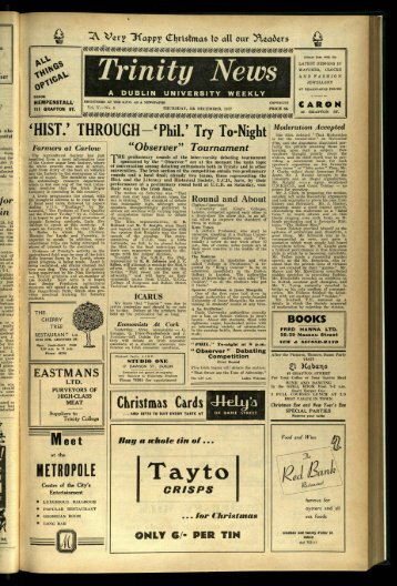 METROPOLE - Trinity News Archive