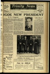 :IGOE NEW PI ESIDENT - Trinity News Archive