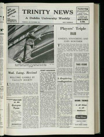 TRINI II TY N EWS O 'GOWNs.the - Trinity News Archive