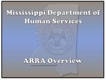Department of Human Services - Stimulus