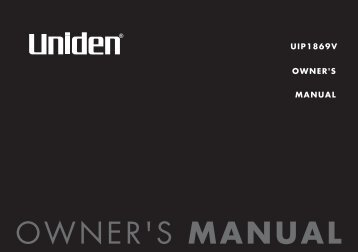 UIP1869V OWNER'S MANUAL - at Uniden