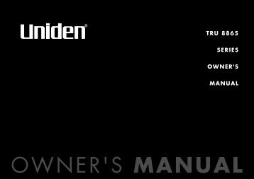 TRU 8865 SERIES OWNER'S MANUAL - at Uniden