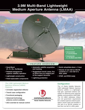 3.9M Multi-Band Lightweight Medium Aperture Antenna ... - Narda