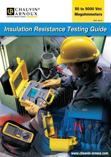 Insulation Resistance Testing Guide - J. ROMA, Lda.