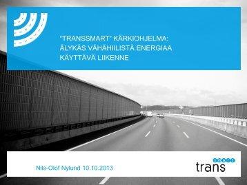 älykäs vähähiilistä energiaa käyttävä liikenne - TransEco