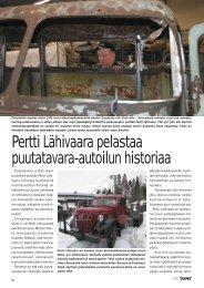 Pertti Lähivaara pelastaa puutatavara-autoilun historiaa