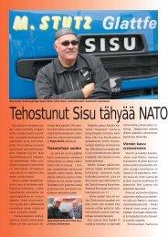 Tehostunut Sisu tähyää NATO –markkinoille s. 28