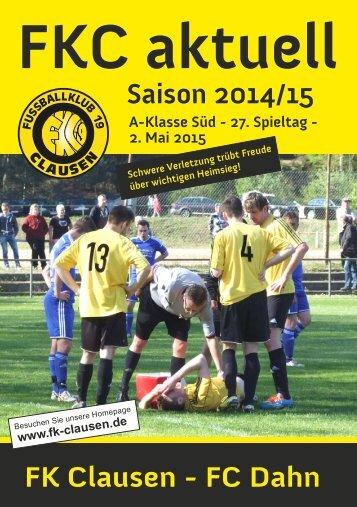 FKC Aktuell - 27. Spieltag - Saison 2014/2015