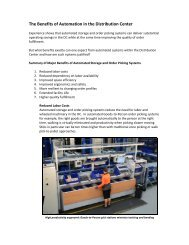 The Benefits of Automation in the Distribution Center
