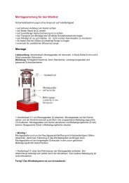 Montageanleitung für den Windkat Montage
