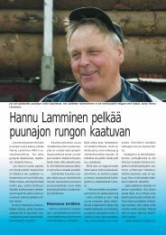 Hannu Lamminen pelkää puunajon rungon kaatuvan s ... - Metsätrans